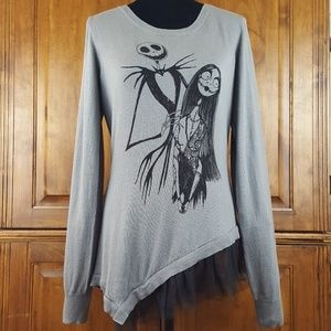 Nightmare Before Christmas Pullover Sweater Sz L